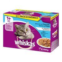 Whiskas Multipk Pescado 12u/100g |(x4)
