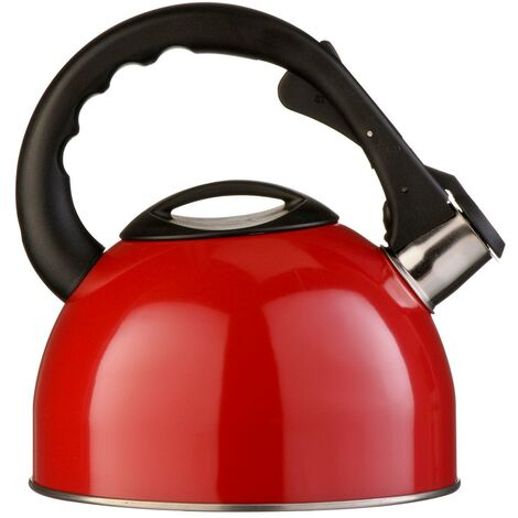 Whistling Kettle,Red/Stainless Steel,2.5Ltr
