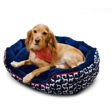 Whitaker Stanbury Dog Bed (Small) (Navy)