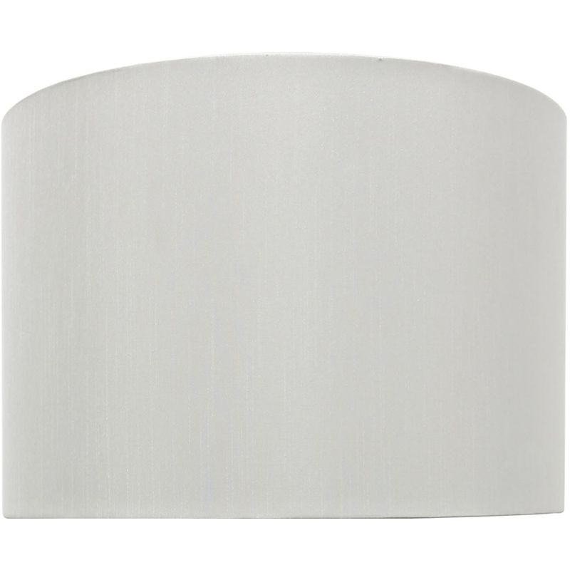 Image of White 13 Inch Faux Silk Cylinder Shade For Table Lamps - CIMC