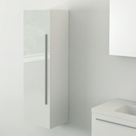White 400mm Tall Side Cabinet - Zeke By Voda Design