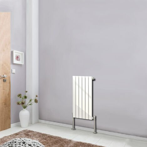 White 600x408mm Horizontal Radiator Designer Flat Panel Single Column Bathroom Central Heating