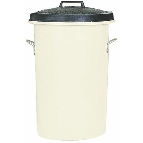 White 85 Ltr H Duty Coloured Dustbin - SBY06637