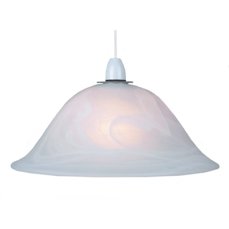White Alabaster Glass Easy Fit Pendant Shade or Floor Lamp Shade by Happy Homewares