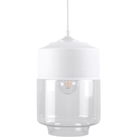 Glass Pendant Lamp White JURUA
