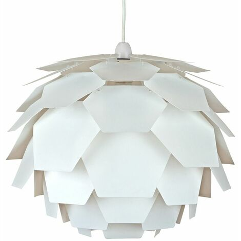 White Artichoke Ceiling Pendant Light Shade