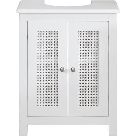 "main image of ""White Bathroom Under Sink Storage Unit - White"""