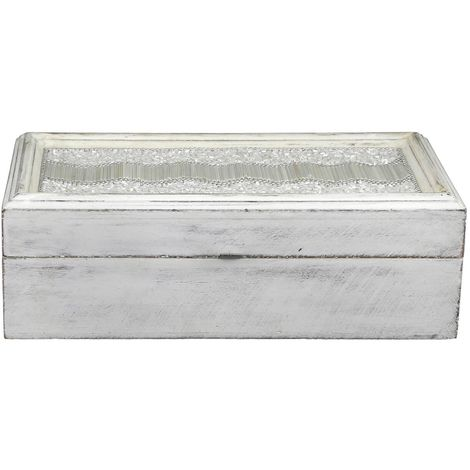 White Beaded Small Jewellery Box - Big Living