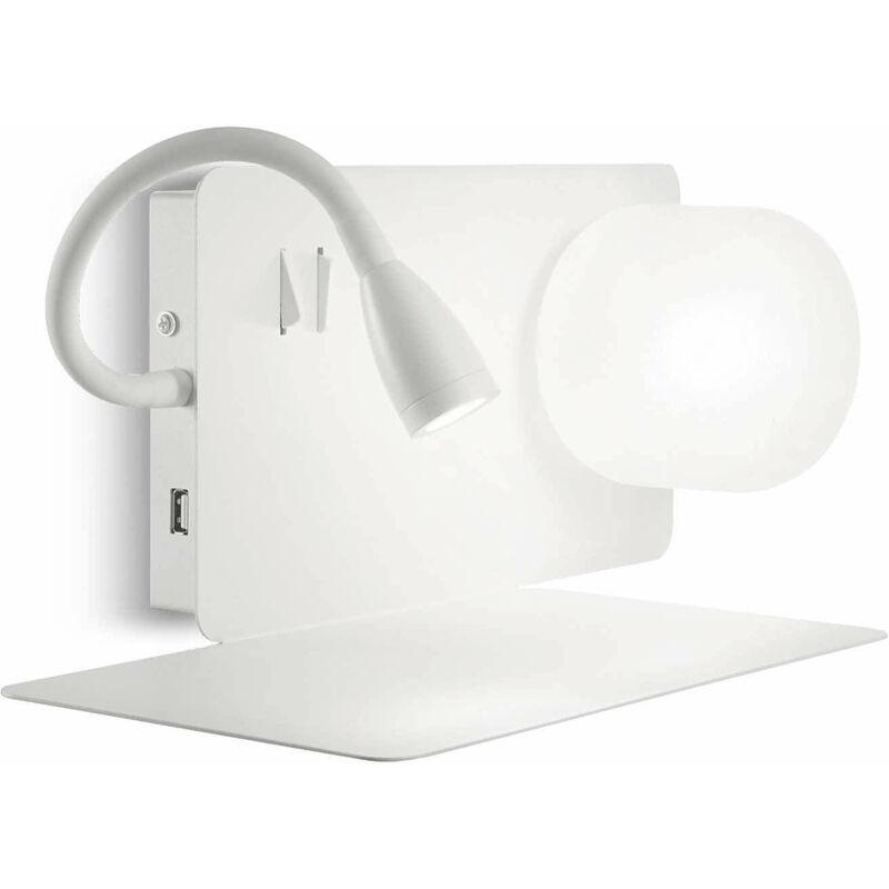 01-ideal Lux - White BOOK Wandleuchte 2 Glühbirnen