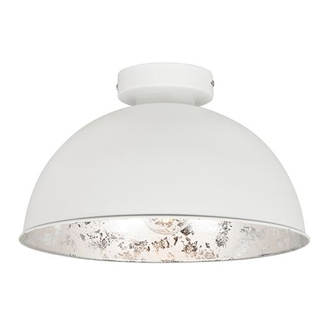 White ceiling lamp with silver 30 cm - Magna Basic