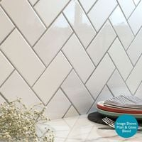 White Chapel Brick Gloss Tiles - 150x75x7mm