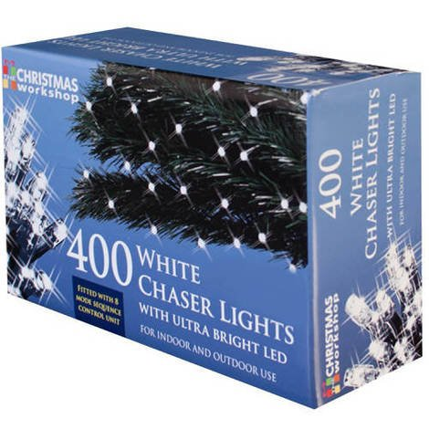 White Chaser Lights with Ultra Bright LED 400 Bulb