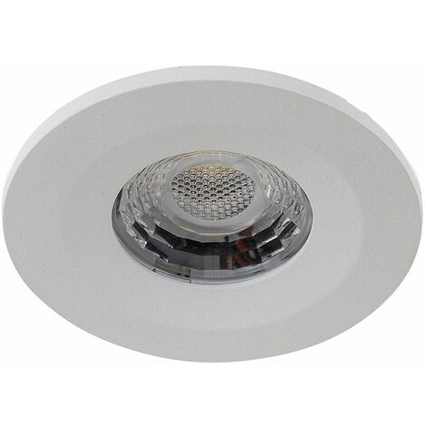 White / Chrome / Brushed Chrome LED 8W Downlights Dimmable Ip65 Fire Rated - White X4