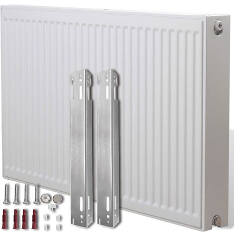 White Compact Convector Radiator Side Connectors 100 x 10 x 60 cm