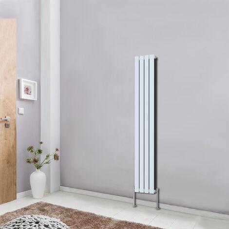 White Designer Radiator Flat Single Panel 1600x272 Central Heating Rads