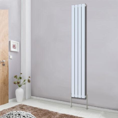 White Designer Radiator Flat Single Panel 1800x272 Central Heating Rads