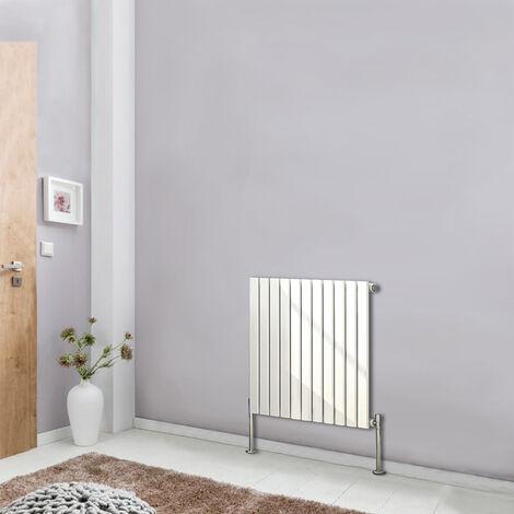 White Designer Radiator Flat Single Panel 600x748 Central Heating Rads