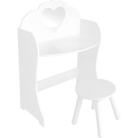 White Dresser Table & Stool Set