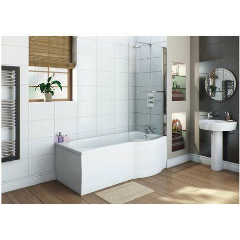 White Flat 750mm Shower Bath End Panel