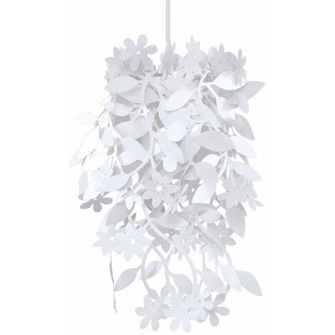 White Floral Chandelier Ceiling Pendant Light Shade