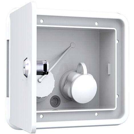 """main image of """"White Fresh Water Universal Inlet Hatch & Keys 16 X 15cm - Cap Filler Locking Boat Motorhome"""""""