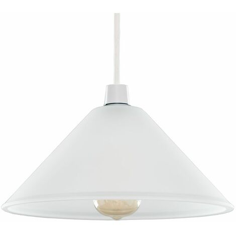 White Frosted Glass Ceiling Light Shade - White
