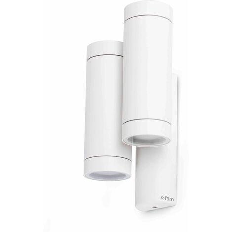 White garden wall light Steps 4 bulbs