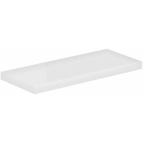 White Gloss 300mm Floating Bathroom Shelf