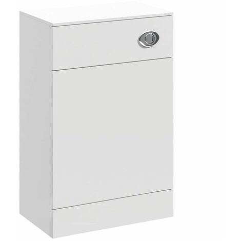 White Gloss 500mm Bathroom WC Toilet Unit Cabinet Only MDF Modern