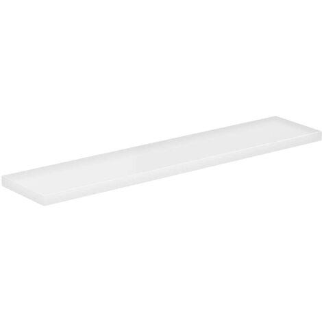 White Gloss 600mm Floating Bathroom Shelf