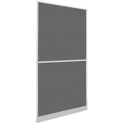 White Hinged Insect Screen for Doors 120 x 240 cm