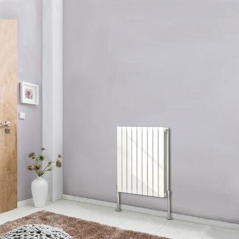 White Horizontal Designer Radiator Flat Double Panel Column Bathroom Heater 600x612 Central Heating