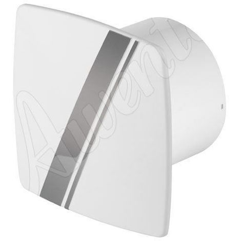 White Kitchen Bathroom Wall Extractor Fan 100mm Awenta LINEA Style with Pull Cord
