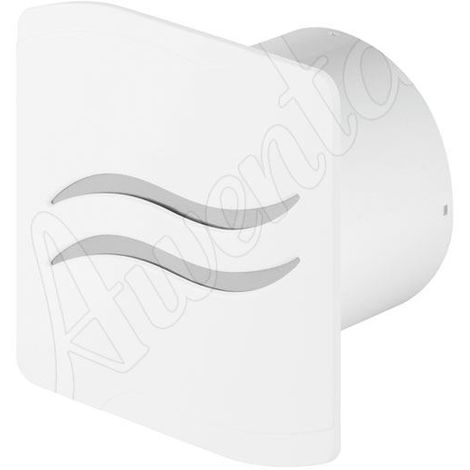 White Kitchen Bathroom Wall Extractor Fan 100mm Ventilation with Pull Cord