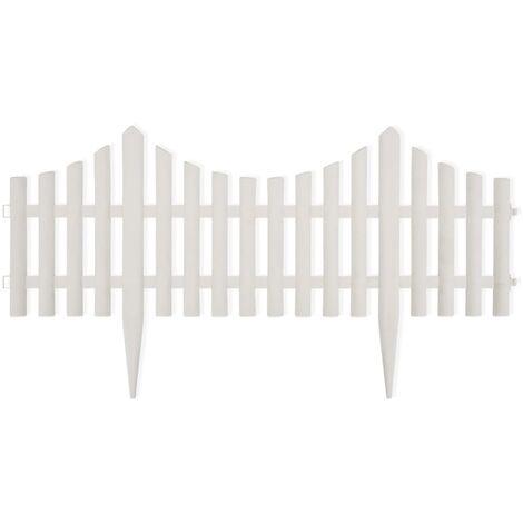 White Lawn Divider 17 pcs / 10 m