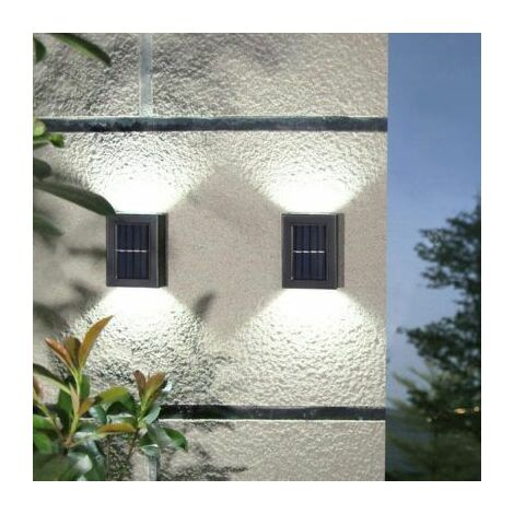 White light Solar Powered Up and Down Lights