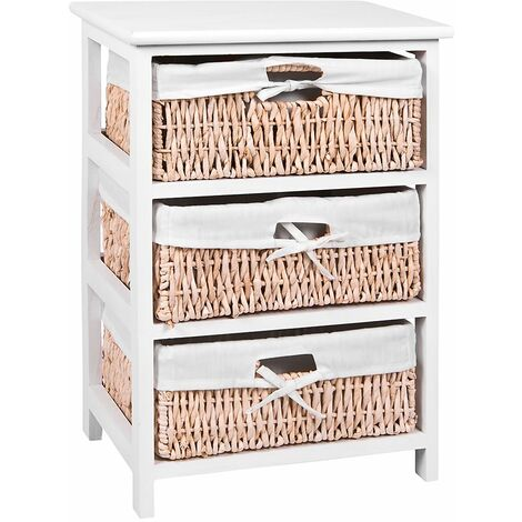 White Maize Storage Unit, 3 Drawer