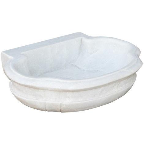 White marble sink L56XD15XH41 CM