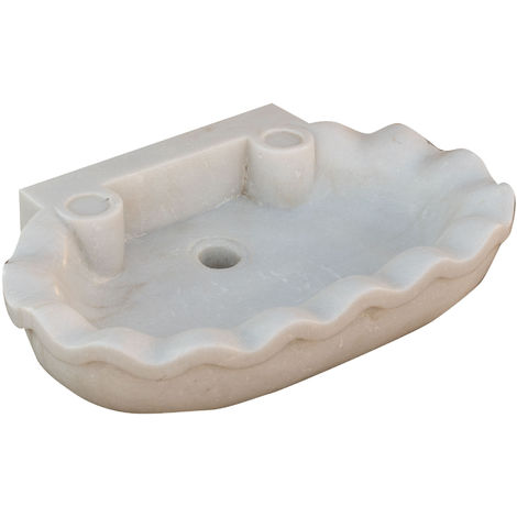 White marble W58xDP39xH13 cm sized washing-up basin