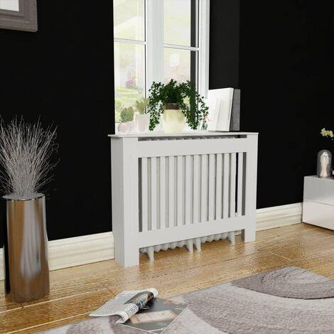 White MDF Radiator Cover Heating Cabinet 112 cm