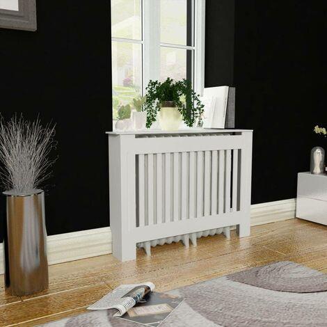 White MDF Radiator Cover Heating Cabinet 112 cm VD09120