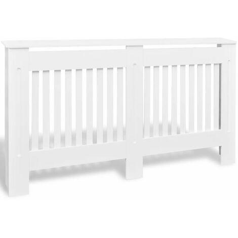 White MDF Radiator Cover Heating Cabinet 152 cm QAH09121