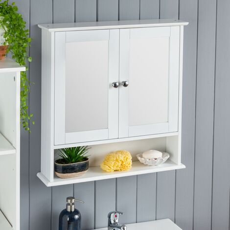 White Mirrored Cabinet