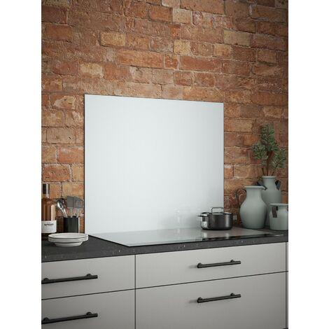 "main image of ""White Mist Glass Kitchen Splashbacks - different dimensions available"""