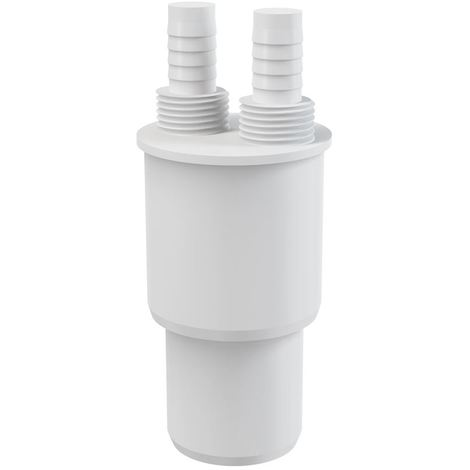 "White Plastic Reduction Connection Reducer to Waste 40/50xG1/2"" Hose Connector"
