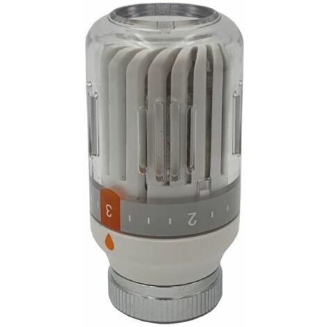 White Radiator Thermostatic Valve Head M30x1,5 Crystal Colour 8-30C Temperature