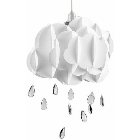White Rain Children Bedroom Ceiling Light Acrylic Droplet