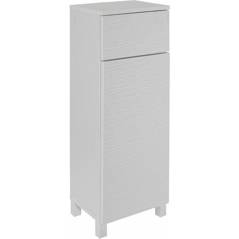 White Ripple Bathroom Floor Cabinet Storage Unit