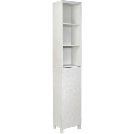 "main image of ""White Ripple Bathroom Tallboy Storage Unit - White"""