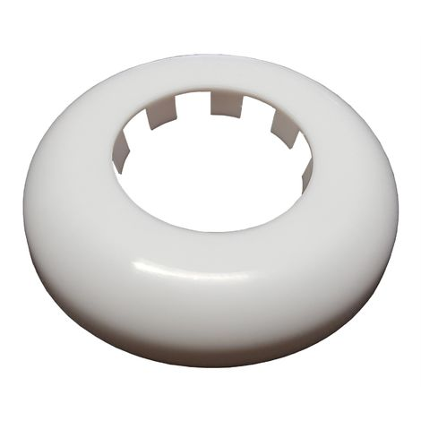 White Rosette Collar Rose Cover for Pipe Holes Covering Gaps Hiding 50mm
